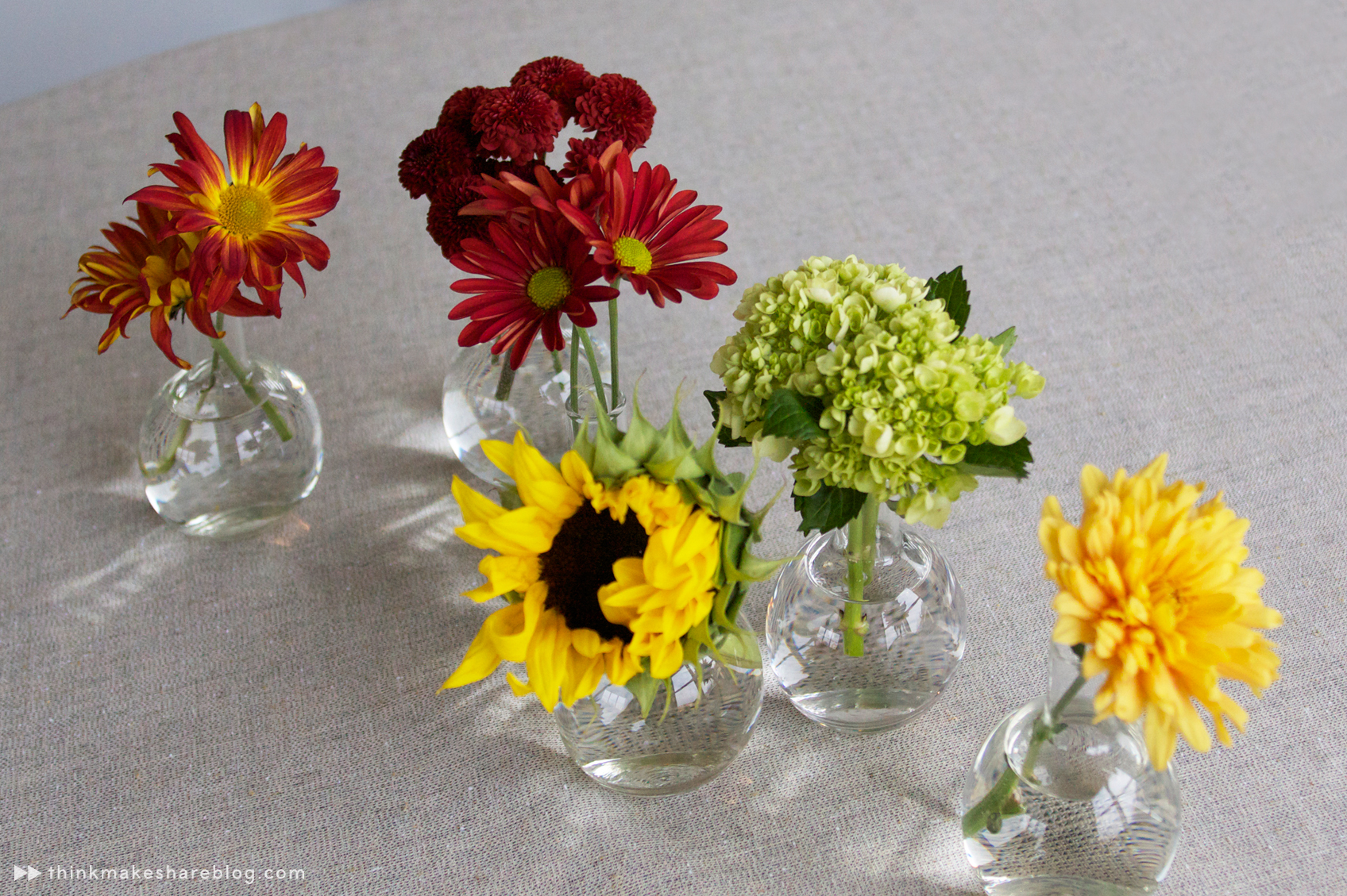 Create a gorgeous thanksgiving centerpiece with grocery store diyfloralbud vases thinkmakeshareblog reviewsmspy