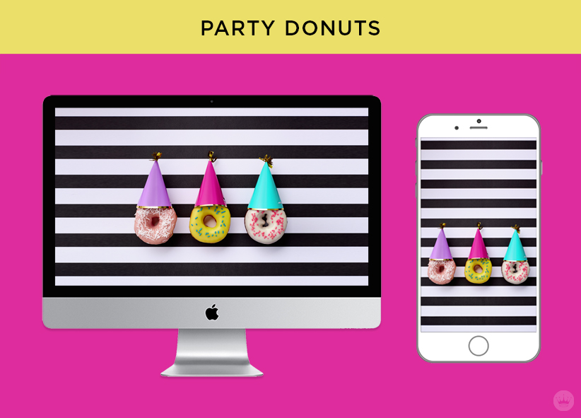 Download Party Donuts for June Wallpapers | thinkmakeshareblog.com