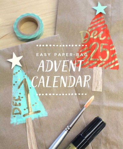 Easy paper-bag advent calendar | thinkmakeshareblog.com