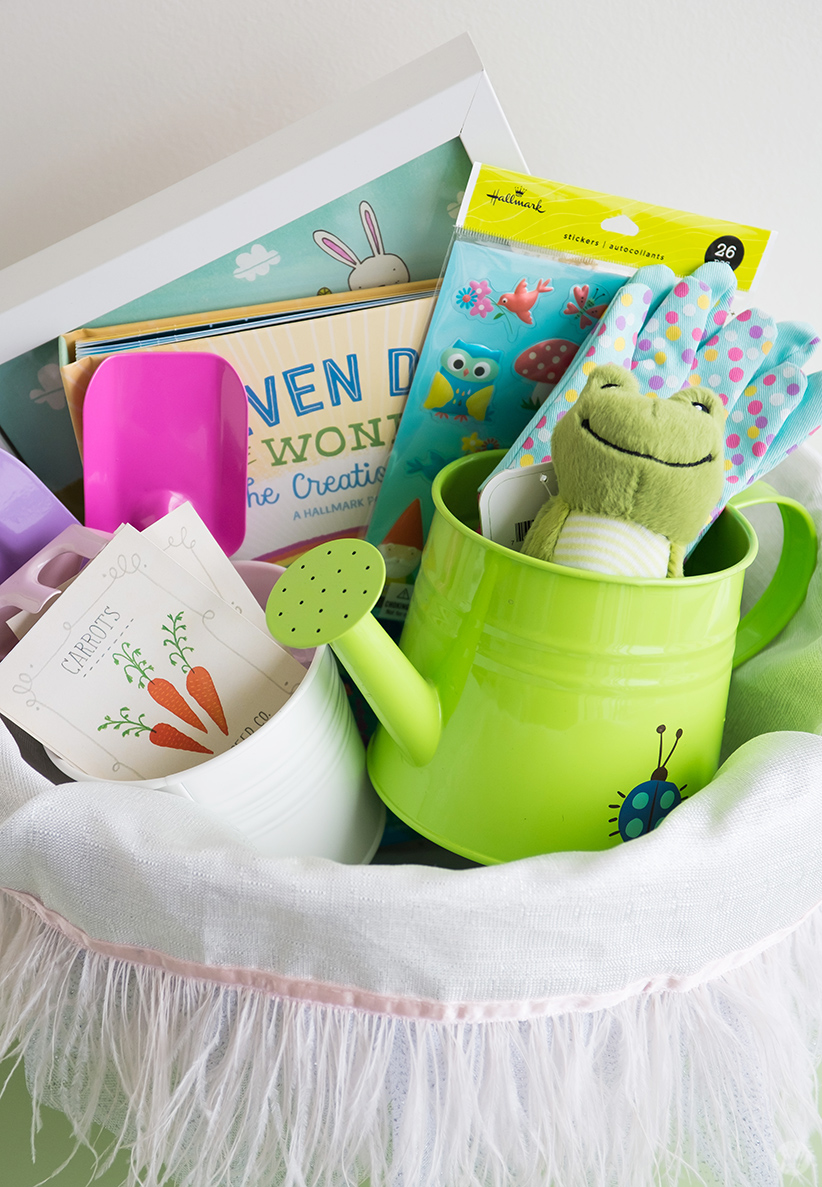 Easter basket ideas for kids from toddlers to teens thinkke fortunately we have a little nature lover on our hands as well this year for easter i stocked her basket full of fun gifts with a garden theme negle Gallery