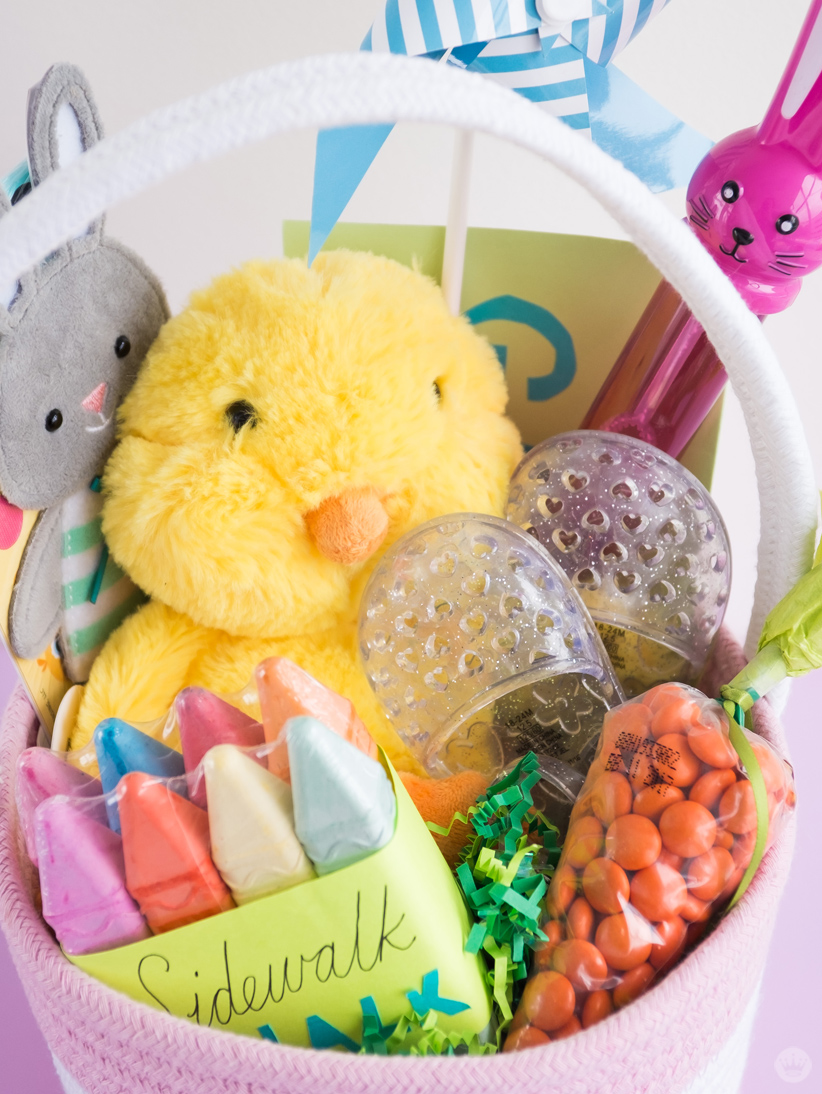 Easter basket ideas for kids from toddlers to teens thinkkeare the arrival of spring means all kinds of fun things to dodrawing with sidewalk chalk blowing bubbles and running with pinwheels negle Choice Image