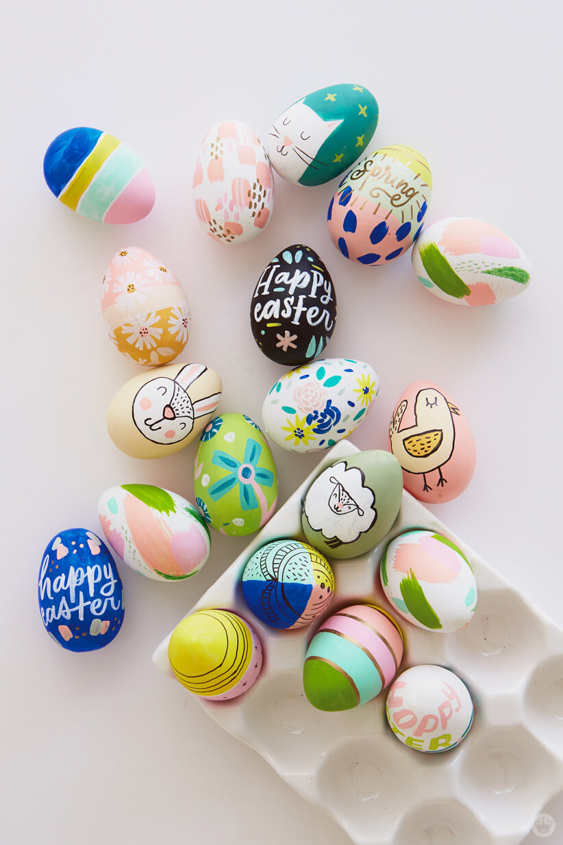 2018 Easter egg decorating: Decorated eggs