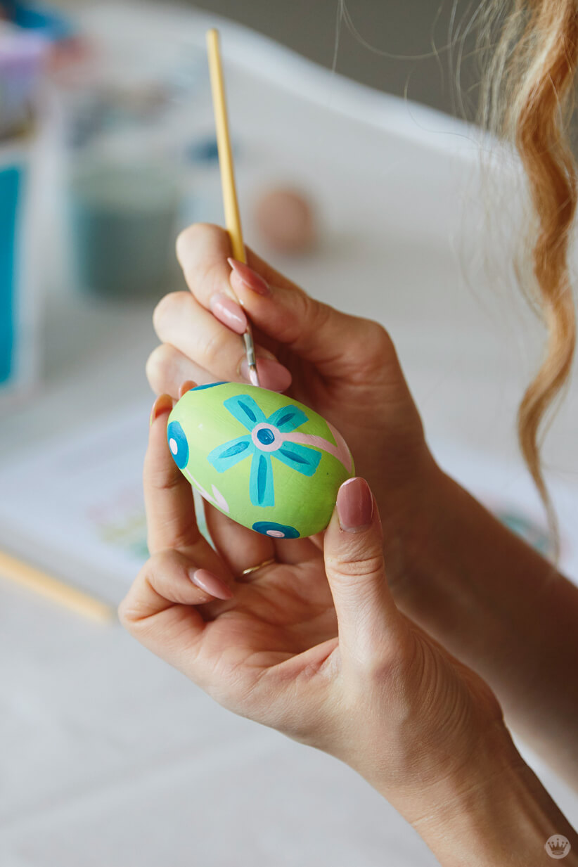 Painting an Easter egg