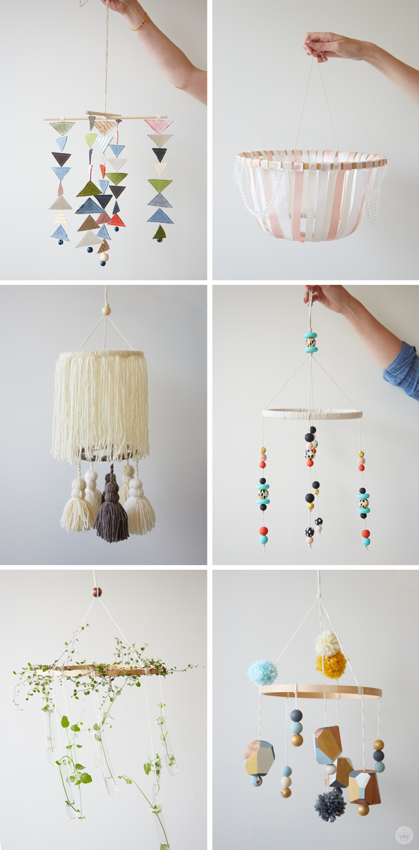 Diy Embroidery Hoop Baby Mobile Think Make Share