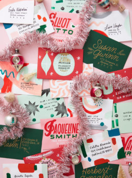 Christmas mail art: 4 ways to decorate a big, beautiful stack of envelopes