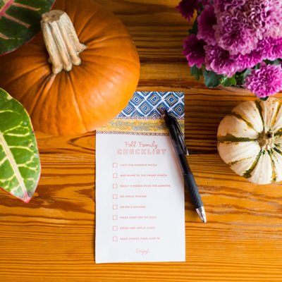 Fall Family Checklist | thinkmakeshareblog.com