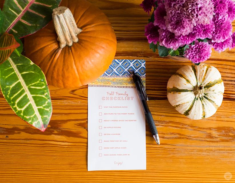 Fall Family Checklist   thinkmakeshareblog.com