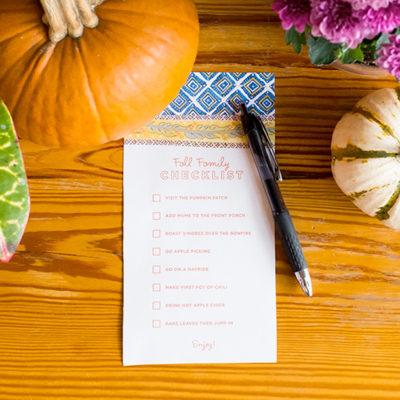 Fall Checklist September Slider | thinkmakeshareblog.com