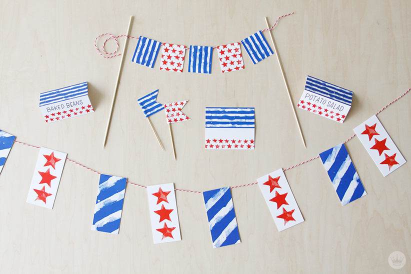 Fourth of July Party Decor | thinkmakeshareblog.com