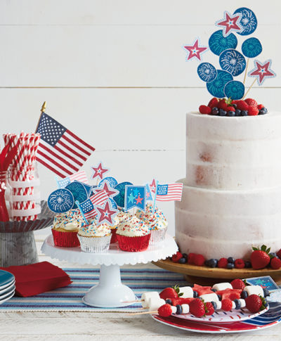 Fourth of July Toppers | thinkmakeshareblog.com