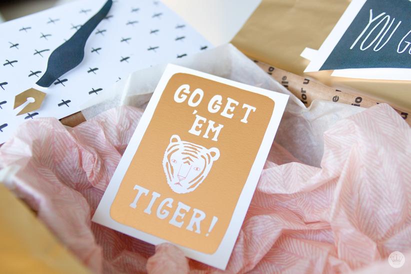 Go Get 'Em, Tiger! Care package ideas | thinkmakeshareblog.com