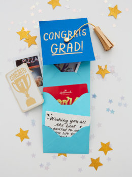 Graduation gift idea: Mini grad cap full of surprises