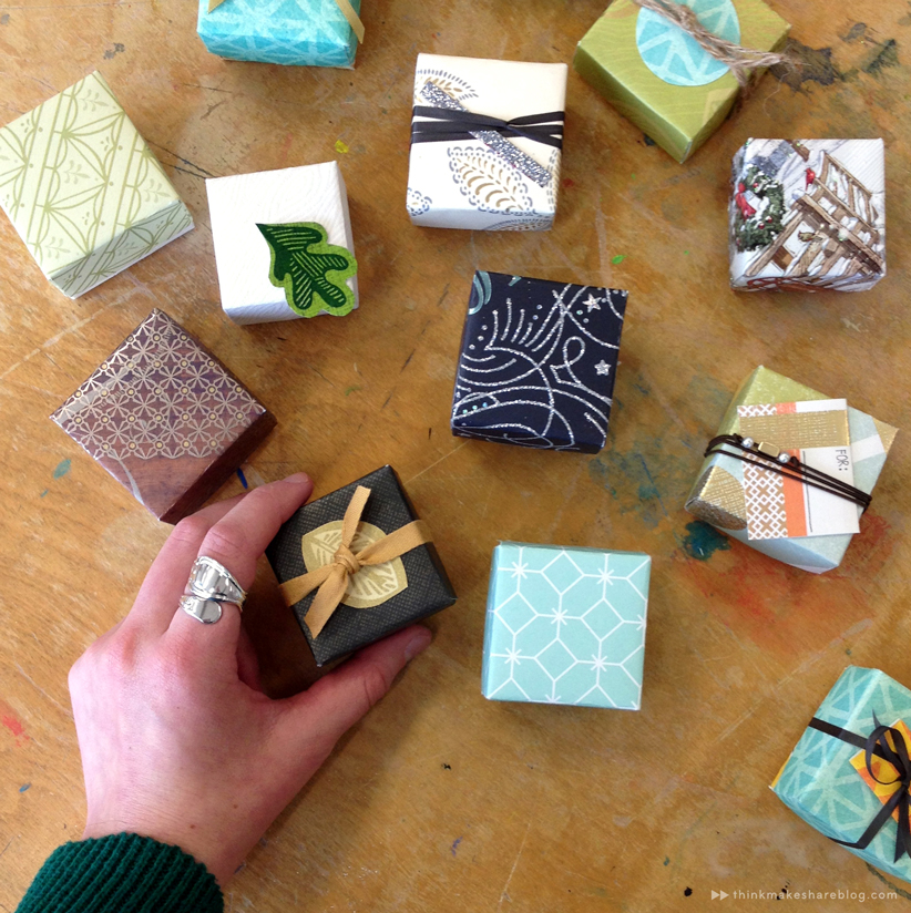 Learn to make tiny gift boxes out of last years greeting cards greeting card gift boxes final thinkmakeshareblog m4hsunfo Gallery