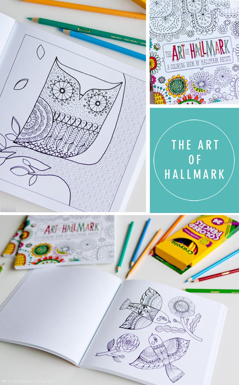 Coloring books for artists - Hallmark Coloring Book Thinkmakeshareblog Com
