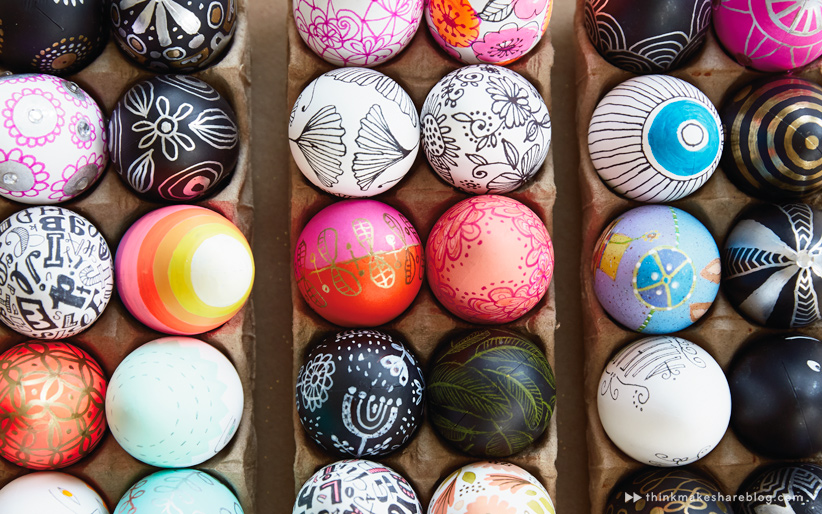 Diy hand painted easter egg ideas from hallmark artists for Easter egg ideas