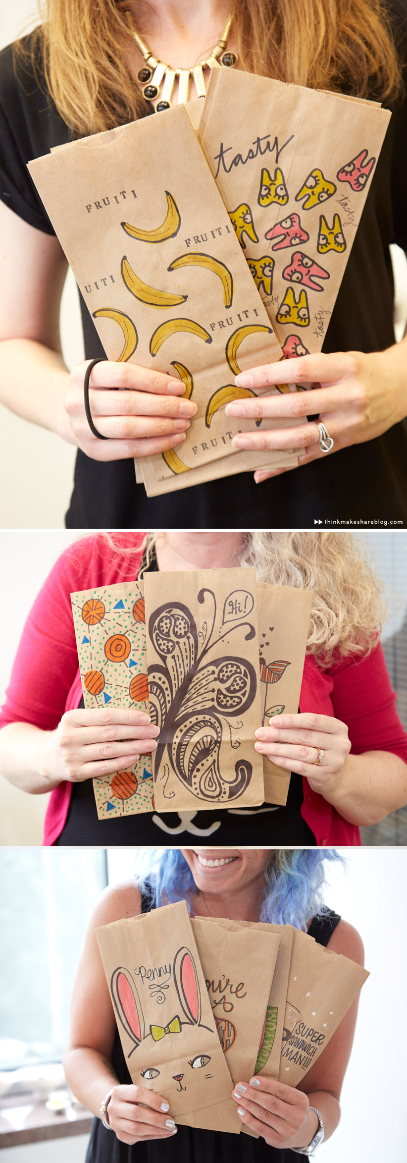 ... Creative Lunch Bag Decorating Ideas with Hallmark artists | thinkmakeshareblog.com ... & Back to school with creative lunch bags and totes - Think.Make.Share.