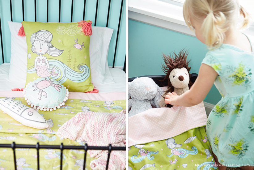 Hallmark designer Tuesday Spray shares her daughter's big girl room | thinkmakeshareblog.com