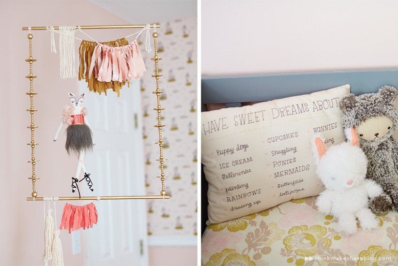 Hallmark designer Tuesday Spray shares her daughter's nursery | thinkmakeshareblog.com