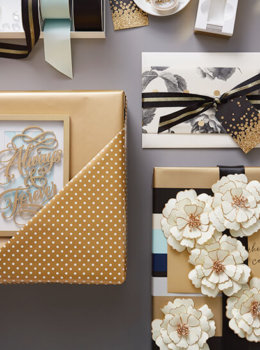 Wrap a wedding present three fabulous ways