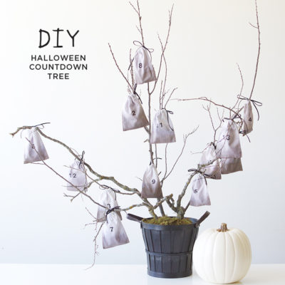 Halloween Countdown Tree | thinkmakeshareblog.com
