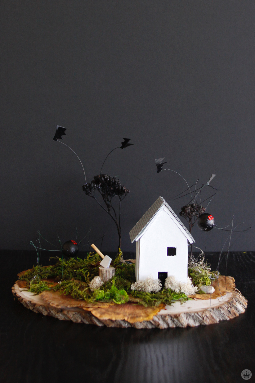 Make Your Own Halloween Decorations Miniature Haunted