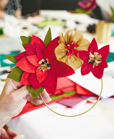 Holiday Paper Flowers | thinkmakeshareblog.com