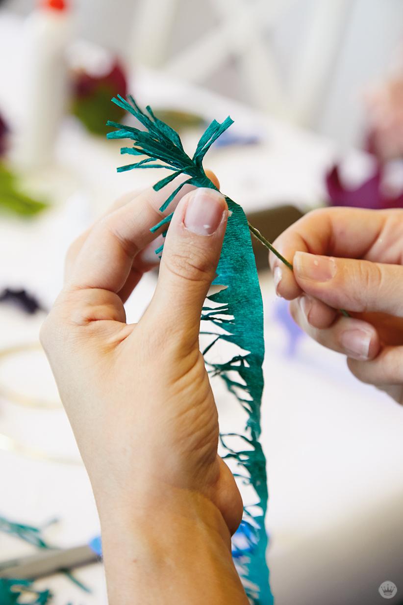 Making a DIY paper poinsettia
