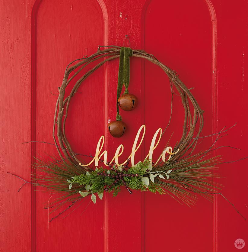 how to make a fresh cut christmas wreath