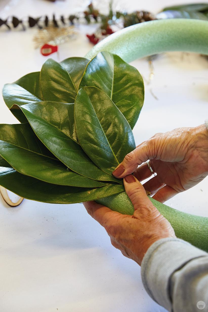 Modern Christmas wreath ideas: How to make a magnolia wreath