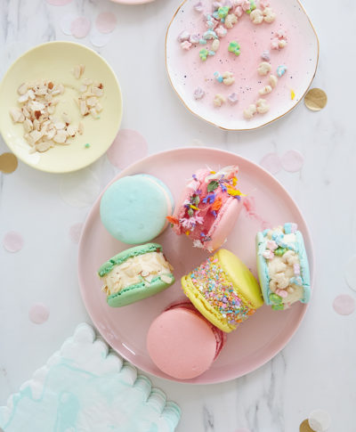 Macaron Ice Cream Sandwich Bar | thinkmakeshareblog.com