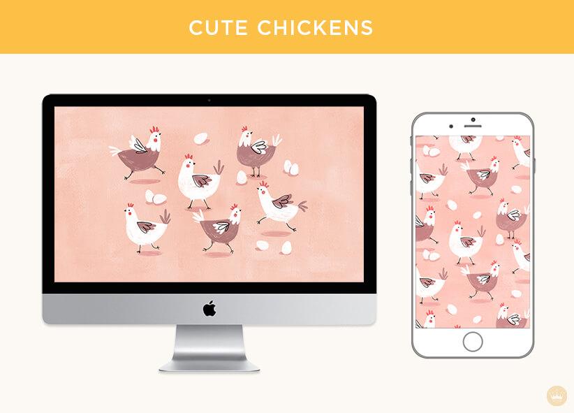 Cute chickens digital wallpapers