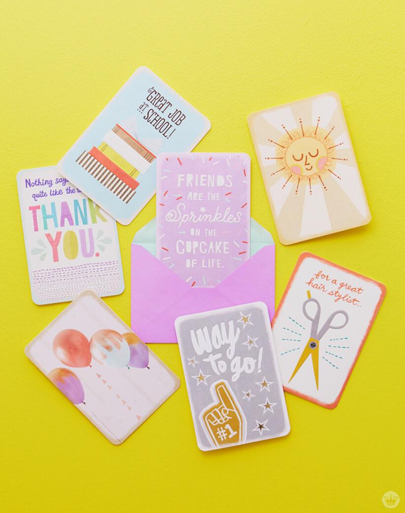 Hallmark's new Just Because cards