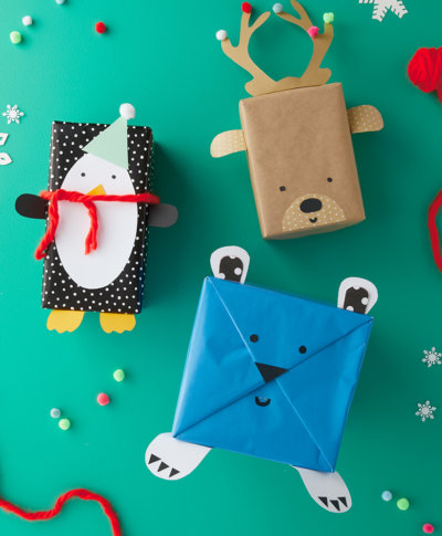 Kids Holiday Giftwrap Ideas | thinkmakeshareblog.com