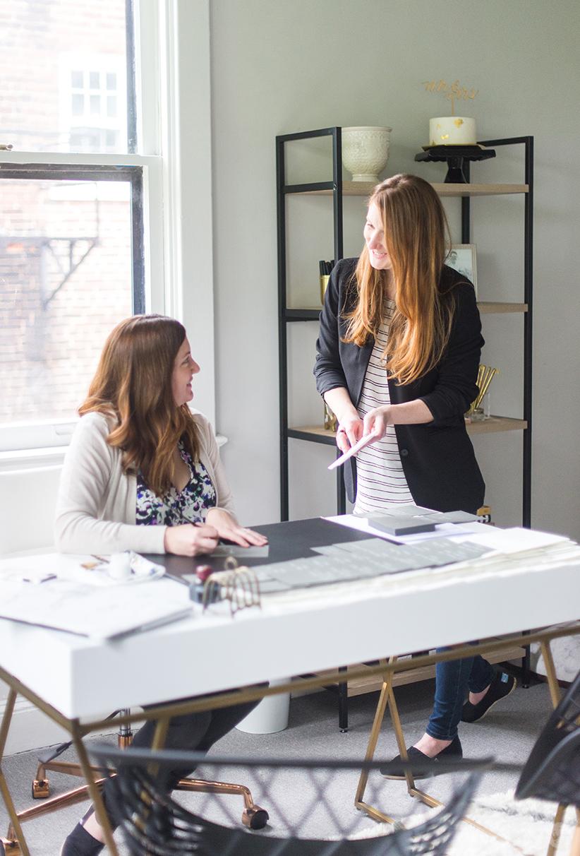 Calligrapher Laura Hooper and her sister, Alyssa Law.