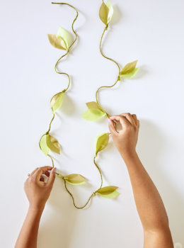 Add a wild or woodsy touch to parties with a DIY paper vine garland