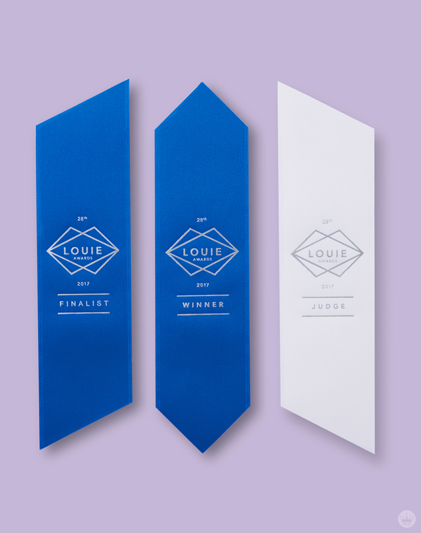 Ribbons for the 2017 Louie Awards show