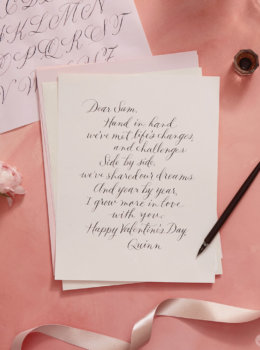 Calligraphy tips: How to hand letter a love letter (or any special message)