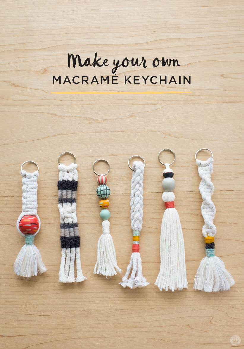 How To Make A Book Keychain ~ How to diy tassel and macramÉ keychains think make share