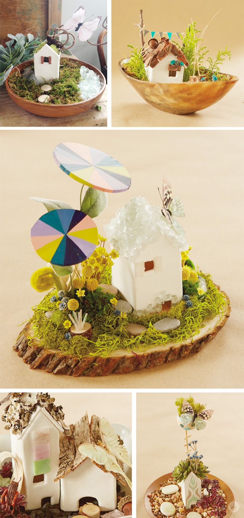 Magical modern fairy houses | thinkmakeshareblog.com