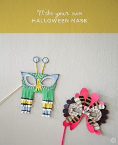 Make your own HALLOWEEN MASK | thinkmakeshareblog.com