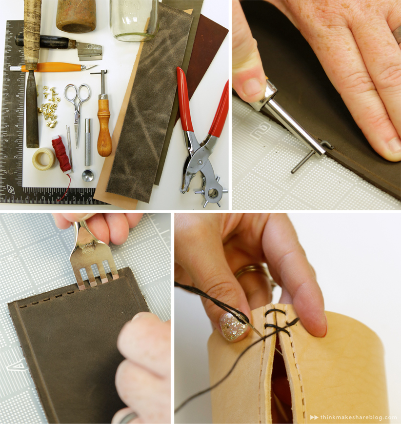 Make your own LEATHER CRAFTS | thinkmakeshareblog.com