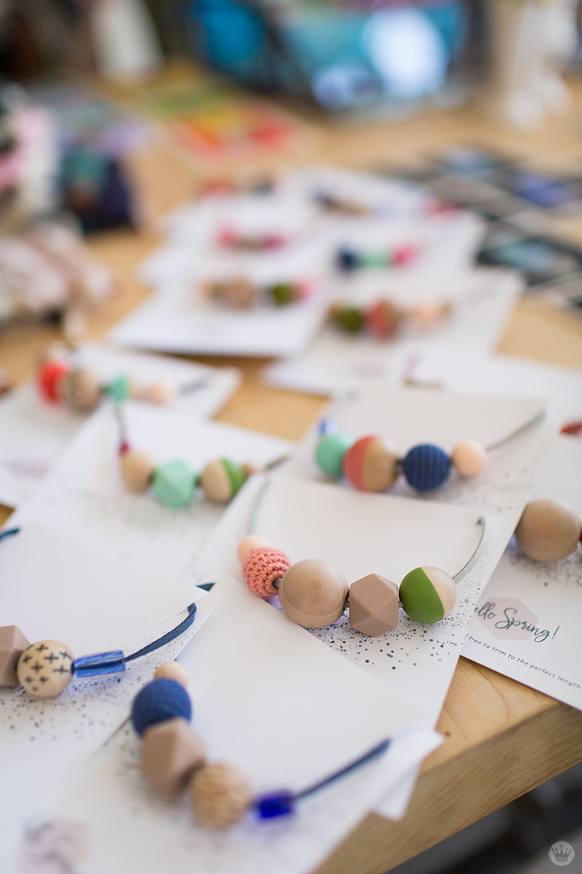 Handmade gift exchange: Em B.'s bead necklaces