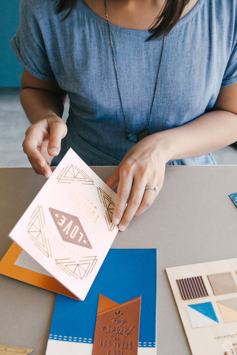 Hallmark Designer Riga S. takes a look at her Man Made Father's Day cards