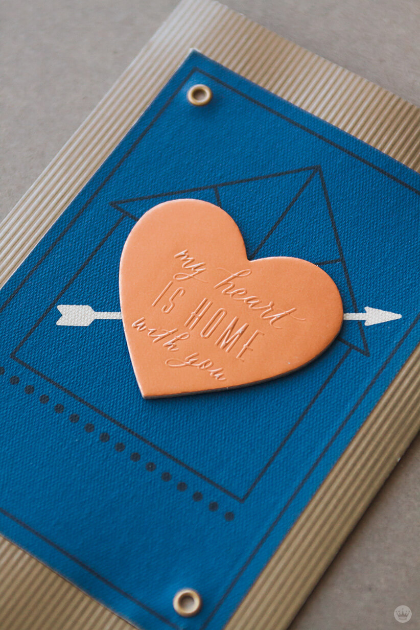 Metal and fabric details from Hallmark's Man Made Father's Day cards