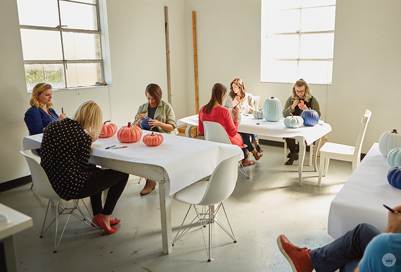 Matte Pumpkin Painting Workshop | thinkmakeshareblog.com