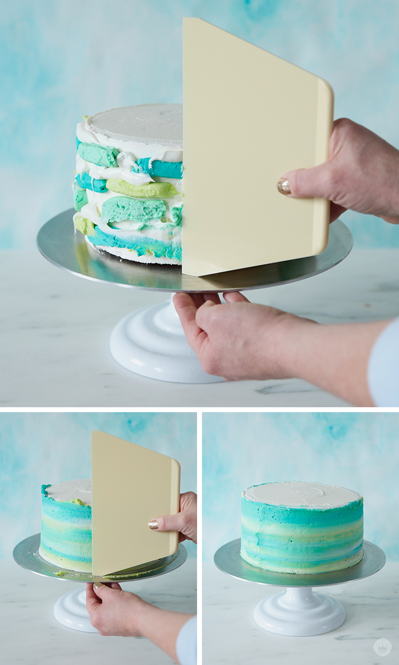Make a modern ombre Easter cake ThinkMakeShare