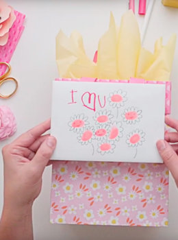 How to add flowers to a Mother's Day gift