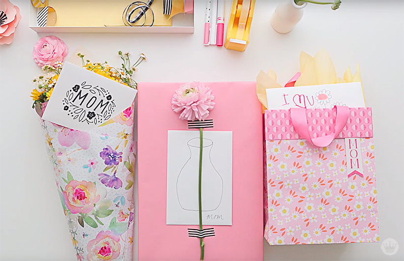 Three ways to add flowers to Mother's Day gifts