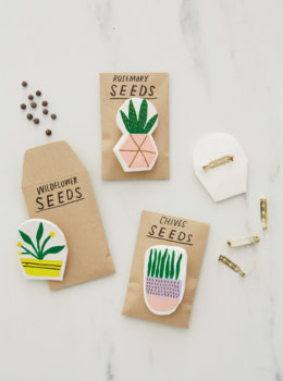 DIY clay pins: Make cute handpainted gifts for Mother's Day