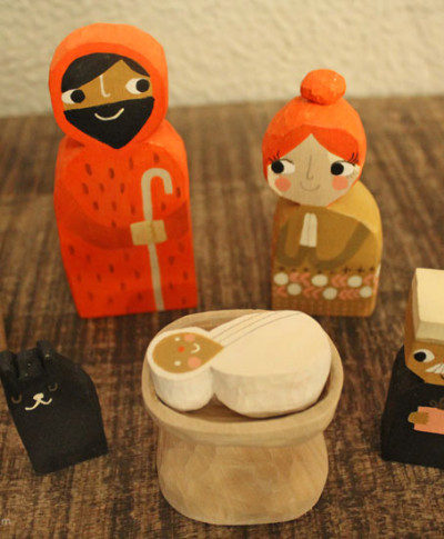 Amber Goodvin's handmade nativity set | thinkmakeshareblog.com